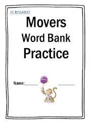 English Worksheet: Movers word bank practice