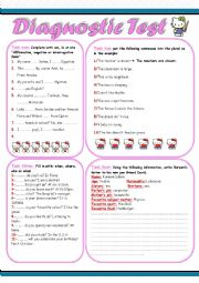 English Worksheet: Diagnostic