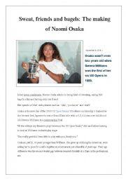 English Worksheet: Naomi Osaka Champion