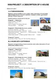 English Worksheet: Description of a house