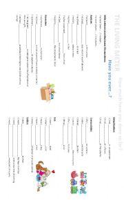 English Worksheet: LIVING METRE