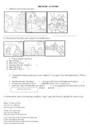 English Worksheet: Bee Movie Activity