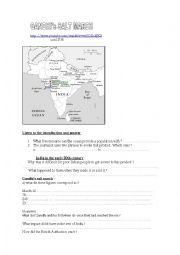 English Worksheet: Gandhi�s salt march