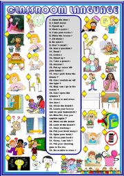 English Worksheet: Classroom language new updated