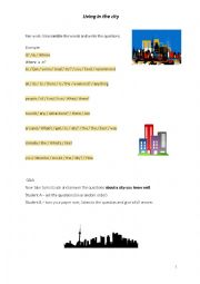 English worksheet: Living in the city