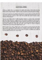 English Worksheet: Coffee Time