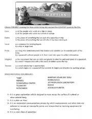 The Martian (movie worksheet)