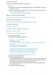English Worksheet: New technologies and their impact on young people