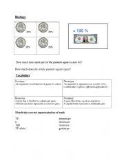 English Worksheet: Biology Genetics Reference