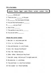 English Worksheet: review 6th/7th form