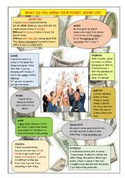 English Worksheet: Teenagers and pocket money
