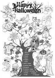 English Worksheet: Halloween Vocabulary Worksheet
