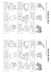 English Worksheet: READING TIME: ANIMALS