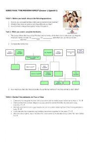 English Worksheet: The modern family (Pilot)