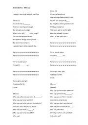 Song worksheet - Selena Gomez ´Who Says´