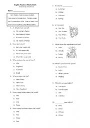 Mix Grammar and Vocabulary Test questions 50 items
