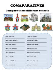 English Worksheet: COMPARATIVES Equality and Superiority