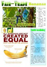 Fair-Trade Bananas - Picture Description + KEY