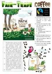 Fair-Trade Coffee - Reading + Picture Description + KEY