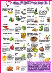 SUPER FOODS with sentences 2