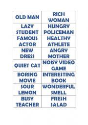 English Worksheet: Miming Game