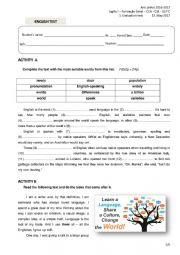English Worksheet: 10th form test