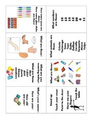 English Worksheet: Trinity Grade 1 exam booklet