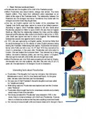 English Worksheet: learn some about the real pocahontas, watch the movie and practice some listening with the song