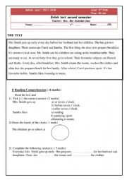 English Worksheet: 6th form test