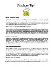 English Worksheet: Telephone tips and language