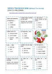 English Worksheet: Christmas, the Grinch
