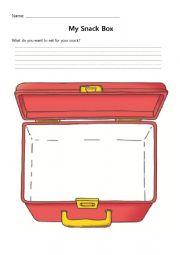 English Worksheet: Snack Box