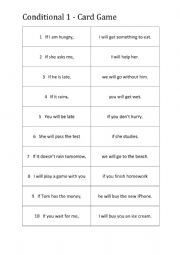Conditional 1 - Find your partner game