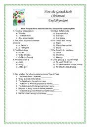English Worksheet: Grinch