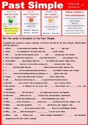 PAST SIMPLE Practice Regular and Irregular