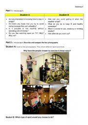Health and Sport Speaking FCE