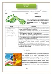 11th form test on environment