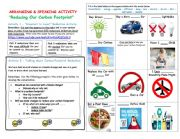 English Worksheet: Best Ways to Reduce Your Carbon Footprint - Climate Change