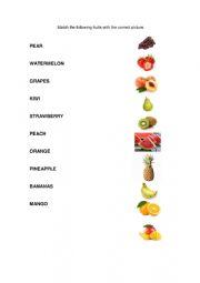 English Worksheet: Fruits Worksheet