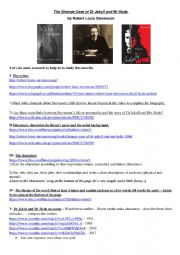 English Worksheet: Dr Jekyll and Mr Hyde