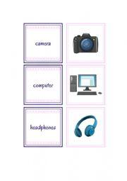 English Worksheet: Gadgets flashcards