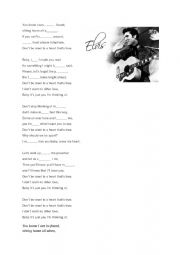 English Worksheet: Elvis Presley Song - a listening exercise