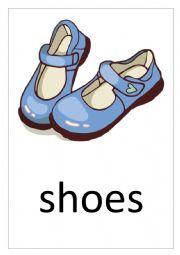 English Worksheet: clothes flashcard