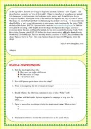 English Worksheet: READING COMPREHENSION TEST ON HELPING SAVE ENDANGERED SPECIES