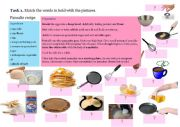 English Worksheet: Quiz. Pancake recipe.