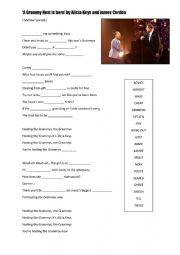 English Worksheet: Shallow parody by Alicia Keys and James Corden