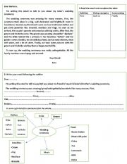English Worksheet: Writing an email about a wedding ceremony
