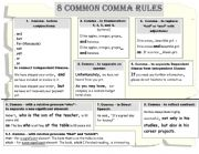 Punctuation - Comma Rules
