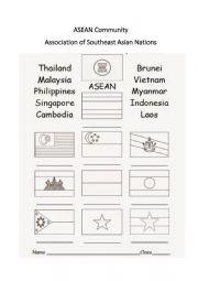 English Worksheet: ASEAN Flags