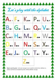 let´s play with the alphabet